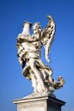 Anel med marmorkolonnen, Castel St. Angelo Rome, Italien Royaltyfri Fotografi