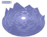 Anel montanhoso roxo da paisagem isolado no fundo branco f Imagens de Stock Royalty Free