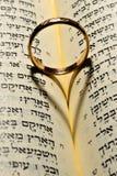 Anel na Bíblia Imagem de Stock