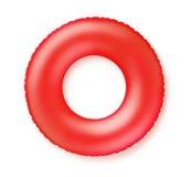Anel vermelho da natação imagem de stock