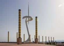 Anella Olimpica Βαρκελώνη Ισπανία Στοκ Εικόνα