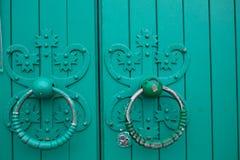Anelli antichi della porta Fotografia Stock