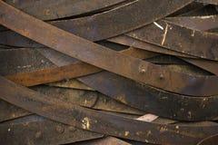Anelli arrugginiti del barilotto di vino Fotografia Stock