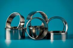 Anelli chromium-plated acciaio Fotografia Stock Libera da Diritti