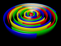 Anelli colorati Fotografia Stock