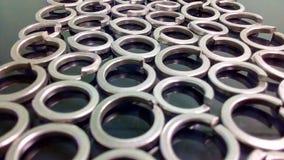 Anelli d'acciaio Fotografia Stock