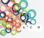 anelli 3d su grey Fondo astratto moderno geometrico Fotografia Stock Libera da Diritti