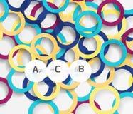 anelli 3d su grey Fondo astratto moderno geometrico Fotografie Stock