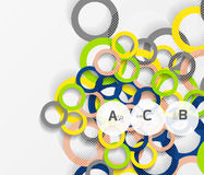 anelli 3d su grey Fondo astratto moderno geometrico Immagini Stock Libere da Diritti