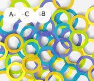 anelli 3d su grey Fondo astratto moderno geometrico Immagine Stock