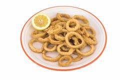 Anelli del calamaro Immagine Stock