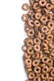 Anelli del cereale del cioccolato Fotografie Stock Libere da Diritti