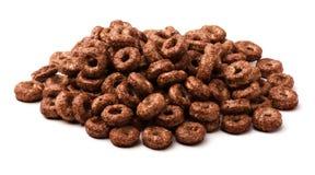 Anelli del cereale del cioccolato Immagine Stock Libera da Diritti