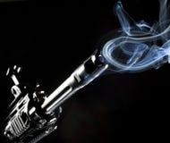 Anelli del fumo Fotografie Stock Libere da Diritti