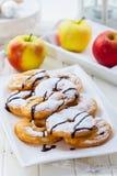 Anelli del pancake di Apple Fotografia Stock Libera da Diritti