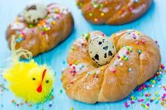 Anelli del pane di Pasqua Immagini Stock Libere da Diritti