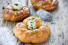 Anelli del pane di Pasqua dell'italiano Immagini Stock