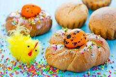 Anelli del pane di Pasqua dell'italiano Fotografia Stock Libera da Diritti