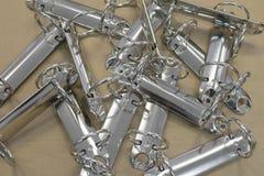 Anelli del supporto del metallo per gli strati Fotografie Stock