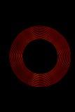 Anelli della luce rossa Fotografia Stock