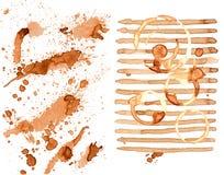 Anelli della tazza di caffè messi Immagine Stock Libera da Diritti