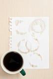 Anelli di caffè Fotografia Stock Libera da Diritti