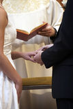 Anelli di cerimonia nuziale fotografia stock libera da diritti