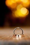 Anelli di cerimonia nuziale Fotografie Stock