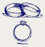 Anelli di cerimonia nuziale illustrazione di stock