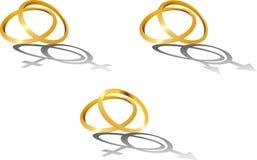 Anelli di cerimonia nuziale illustrazione vettoriale