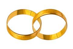 Anelli di cerimonia nuziale connessi Fotografia Stock