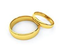 Anelli di cerimonia nuziale dell'oro Fotografie Stock