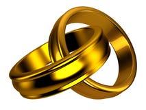 Anelli di cerimonia nuziale dell'oro, monili Fotografia Stock