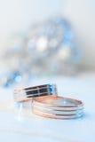 Anelli di cerimonia nuziale, macro Fotografia Stock
