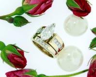 Anelli di diamante Fotografia Stock