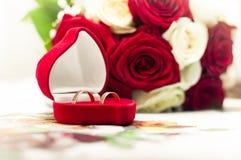 Anelli di fidanzamento Fotografia Stock