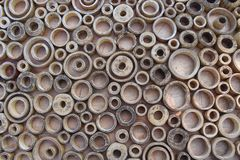 Anelli di legno 1 del cerchio Immagine Stock Libera da Diritti