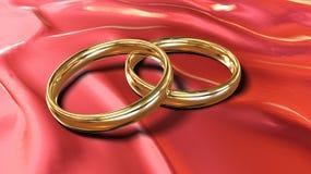 Anelli di oro royalty illustrazione gratis