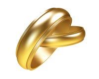 Anelli di oro Immagine Stock