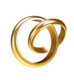 Anelli di oro Fotografie Stock