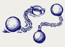 Anelli di trazione del metallo illustrazione di stock