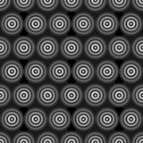 Anelli a fondo grigio astratti Immagini Stock