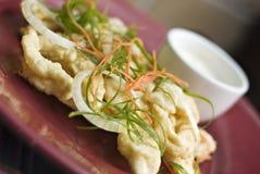 Anelli fritti del Calamari Fotografie Stock