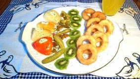 anelli guarniti del calamaro Fotografia Stock Libera da Diritti
