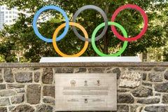 Anelli olimpici Immagini Stock Libere da Diritti