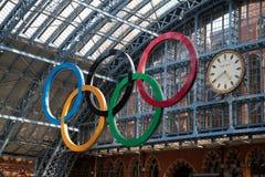 Anelli olimpici Londra 2012 Fotografie Stock Libere da Diritti