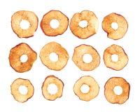 Anelli secchi della mela Immagini Stock