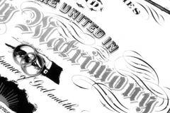 Anelli sull'autorizzazione di unione Immagine Stock