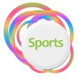 Anelli variopinti casuali di sport illustrazione vettoriale