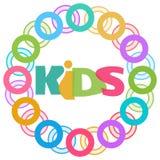 Anelli variopinti dei bambini circolari Fotografia Stock